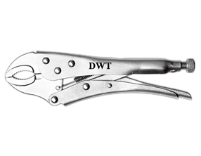 Picture of Locking grip pliers, curved jaws